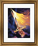 Christian Sword Of Spirit by Jeff Haynie Framed Art Print Wall Picture, Wide Gold Frame, 20 x 24 inches