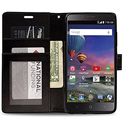 ZTE Grand X Max 2 Wallet Case, ZTE Max Duo LTE Case, CoverON® CarryAll Series Synthetic Leather Flip Folio Card Holder Slim Phone Cover Case for ZTE Grand X Max 2 / Max Duo LTE by CoverON