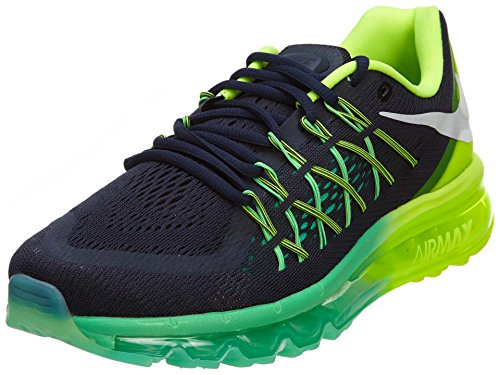 Nike Nike Air Max 2015 Style Des Femmes: 698903 Femme 698903-401 Obsidienne Noire / White-volt-menta