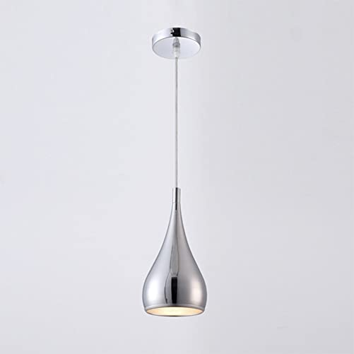 OOFAY Chromed Calabash Pendant Light,Polished Metal Hanging Light E27 Bulb