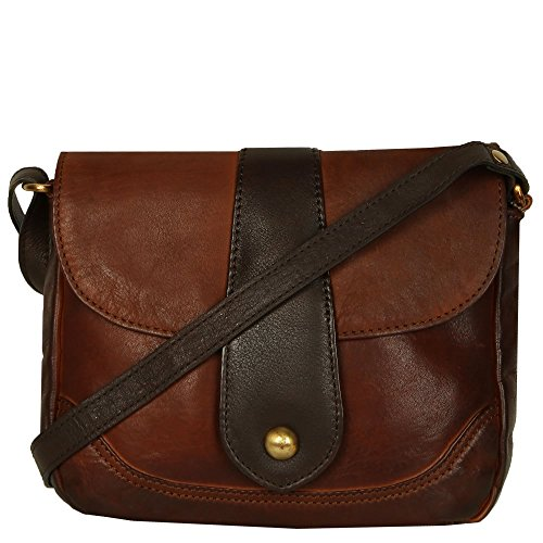 Handbag Womens Messenger Elm brown Bolla Cognac Dark AqxFtwpw5