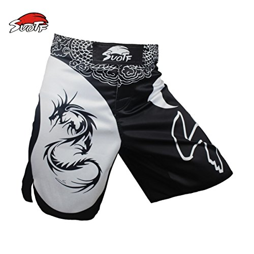 SUOTF MMA Dragon Boxing Domineering Motion Picture Cotton Loose Size Training Kickboxing Shorts Muay Thai Boxing MMA Shorts