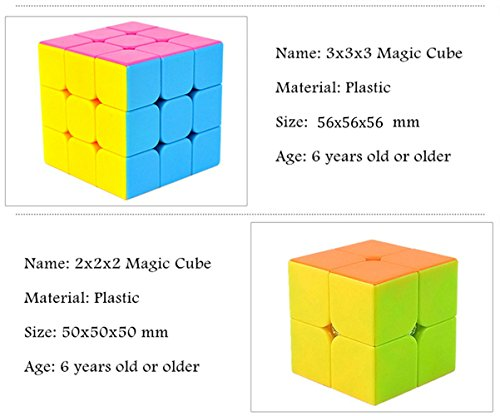 Amazon Magic Cube 3x3x3 2x2x2 Strengthened Version Puzzle Cubo Colorful Learning Educational Kids Toys Anti Stress And Turns Quicker By