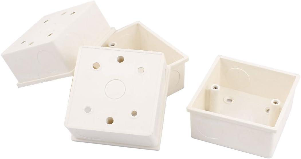PVC Empotrado Caja Empotrar para Enchufe De Pared 85mmx85mmx40mm 4 ...