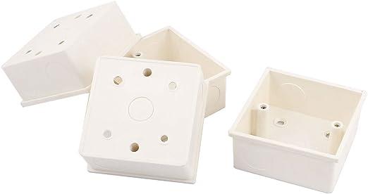 PVC Empotrado Caja Empotrar para Enchufe De Pared 85mmx85mmx40mm 4 unidades Blanco: Amazon.es: Iluminación