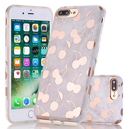 Cheap Cases iPhone 7 Plus Case, Wastou [Marble Pattern Series] Slim Fit Anti-Shock Frosted..