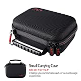 Small Case for GoPro Hero 6,5, 4, 3+, 3, HSU Carrying Case for Action Cameras and GoPro Accessories(Small Size Red)