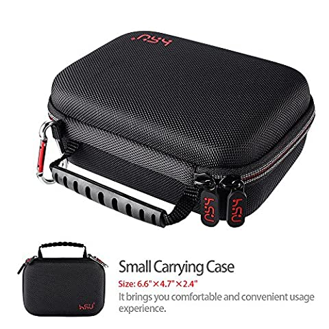 Small Case for GoPro Hero5, 4, 3+, 3, HSU Carrying Case for Action Cameras and GoPro Accessories(Small Size (Gopro Case And Accessories)
