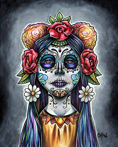 Dia De Los Muertos Day Of The Dead Fine Art Print by Bryan Collins (Day Of The Dead Artwork For Sale)