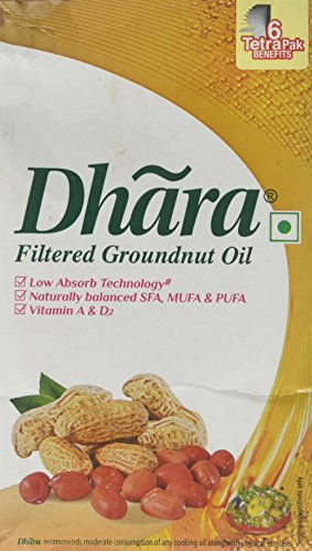 Dhara, Filtered Groundnut Oil, 910 Grams(gm) by Dhara