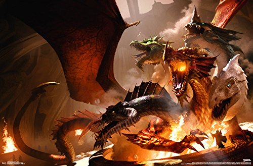 Trends International Dungeons and Dragons-Tiamat Wall Poster, 22.375