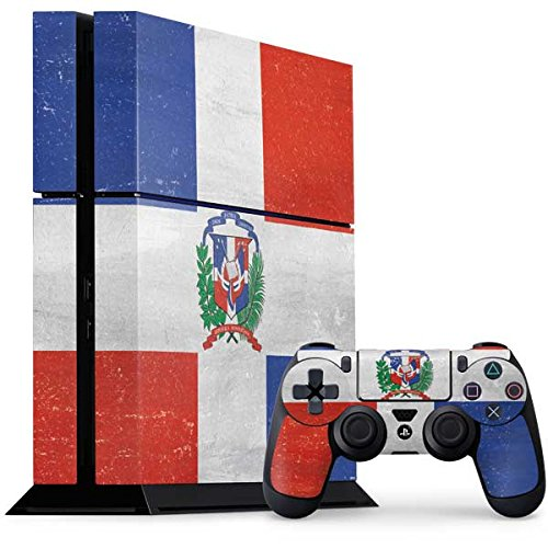 Countries of the World PS4 Console and Controller Bundle Skin - Dominican Republic Flag Faded   Skinit Lifestyle (Dominican Republic Bundle)
