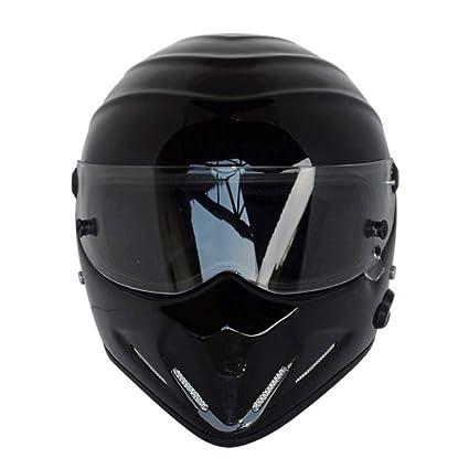 Casco De Motocicleta De Cara Completa, Otoño E Invierno Cálido Kart Racing Vidrio Fibra De