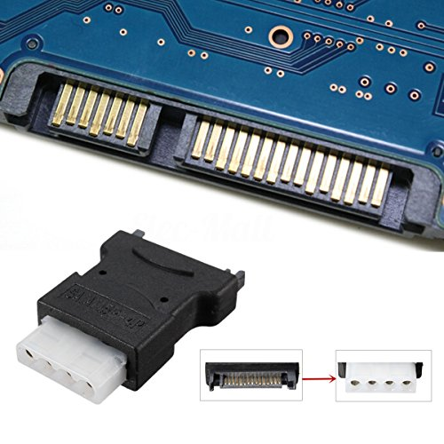 AIKE 5Pcs 15 Pin SATA Male to 4 Pin Molex Female Power Adapter For IDE Hard Drive/CD/DVD by Aike® (Image #4)