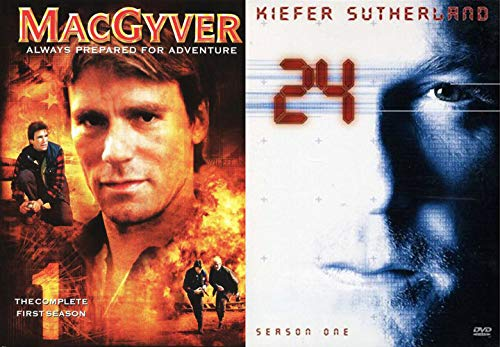(Don't Underestimate Season 1 TV Action MacGyver secret agent & 24 Complete First Season Jack Bauer DVD Series)