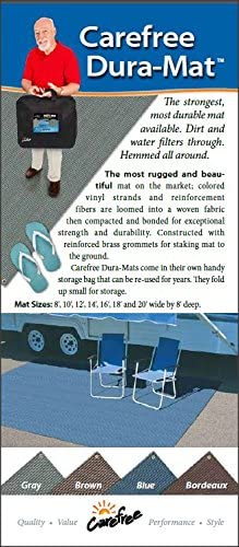 Carefree 182072 Brown 8 x 20 Dura-Mat
