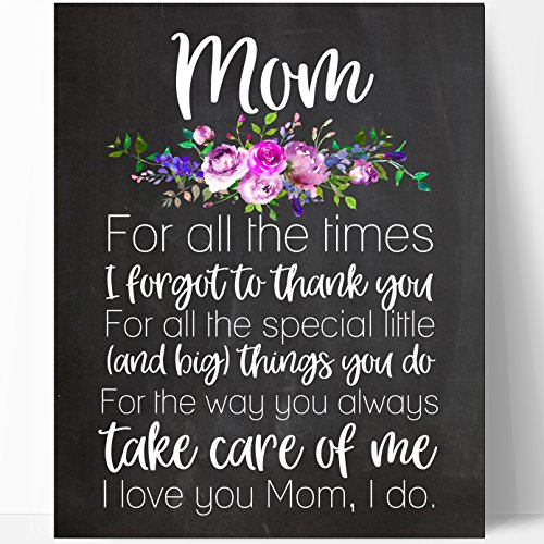 Mom Quote Gift, Mom Chalkboard, Mothers Day Gift, Mom Poem