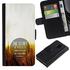 NEECELL GIFT forCITY // Billetera de cuero Caso Cubierta de protección Carcasa / Leather Wallet Case for Samsung Galaxy S5 V SM-G900 // EL SECRETO DEL ÉXITO