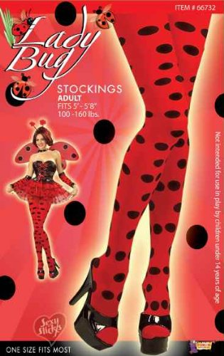 Forum Novelties Lady Bug Stockings (Adult)-Standard - Adult Lady Bug Costumes