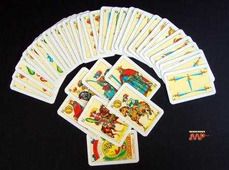 Mexican Playing Cards Naipe Spanish Style Faisan Extra Blue Color, Color Azul (Spanish Cards Tarot)
