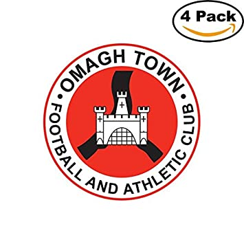 Omagh town ireland soccer football fc decal logo 4 stickers 4x4