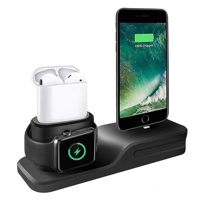 Soporte de carga de teléfono y reloj para iPhone Apple Watch ...