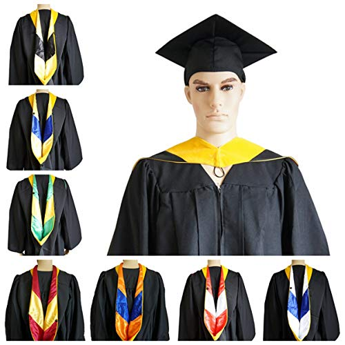 GRADWYSE Graduation Master Hood for Master of Science (Golden Yellow) Orange/White ()