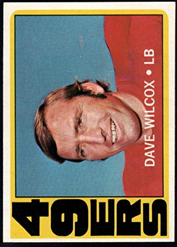 Football NFL 1972 Topps #69 Dave Wilcox 49ers