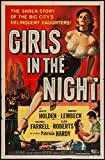 Old Tin Sign Girls In The Night, The Shock Story Of The Big City's Delinquent Daughters - Vintage Movie Poster