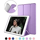 DTTO iPad 9.7 Case 2018 iPad 6th Generation Case/2017 iPad 5th Generation Case, Slim Fit Lightweight Smart Cover with Soft TPU Back Case for iPad 9.7 2018/2017 [Auto Sleep/Wake] - Clove Purple