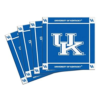 NCAA Kentucky - Ceramic Coasters (4) | UK Wildcats Beverage Coasters - Set of 4