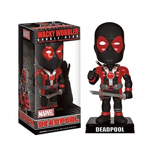 Funko Wacky Wobbler Black Suit Deadpool Exclusive Bobble Head Figure