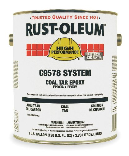(Rust-Oleum High Performance C9578 Coal Tar Epoxy, 1.125-Gallon Kit with C9502504 Activator )