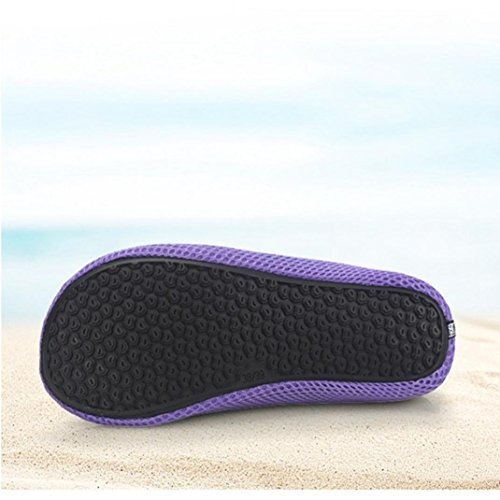 Shoes Beach Quick Outdoor HLHN Swim Barefoot Print Diving Unisex Purple Snorkeling Surf Breathable Water Sport Socks Yoga Shoes Drying Men Women AwA7tq