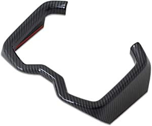 Kadore for Toyota RAV4 2019-2020 Carbon Fiber Style Interior Water Cup Holder Strip Cover Trim 1pc