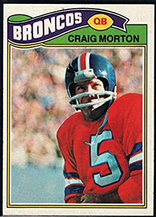 738b6673a Amazon.com: Football NFL 1977 Topps #27 Craig Morton Broncos ...