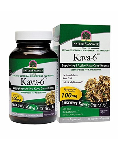 Nature's Answer Kava-6 Vegetarian Capsules, 90-Count (Best Kava Kava Capsules)