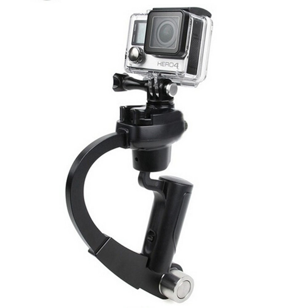 JINSE Mini Handheld Stabilizer and grip for Gopro Hero 4/3+/3/2 Sj4000 (Black)