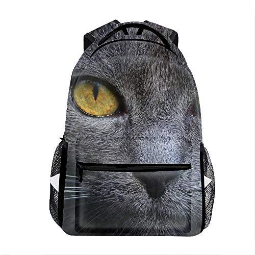 Cat Muzzle Eyes Color Backpack for Kids School Laptop Backpack School Bags Rucksack Satchel Hiking Bag]()
