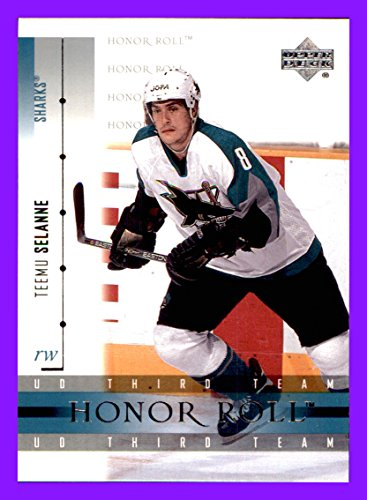 2001-02 Upper Deck Honor Roll #51 Teemu Selanne san jose sharks (Nhl Teemu Selanne)