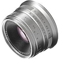Fotga 25mm f1.8 Manual Focus HD/MC Prime Lens for Sony E-mount A6500 A6300 A6000 A5000 A5100 NEX-7 NEX-5A NEX-5T NEX-5C NEX-5N NEX-5R NEX-6 Dslr Cameras Silver