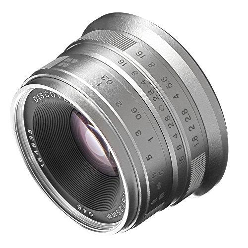 - Fotga 25mm f1.8 Manual Focus HD/MC Prime Lens for Panasonic Olympus Micro 4/3 Mount GH1 GH2 GH3 GH4 GH5 GH5s E-PM1 E-PM2 E-PL1 E-PL2 E-PL3 E-M10 Mark II III DSLR Cameras Silver
