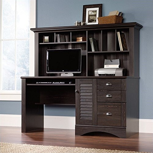 Harbor View Computer Desk With Hutch - Antiqued Paint finish by Sauder