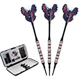 Viper Wings 80% Tungsten Soft Tip Darts with Storage/Travel Case, 16 Grams