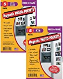 Clear Magnetic Photo Frames For Refrigerator 4'' x 6'' (Pack of 10), Freez-A-Frame