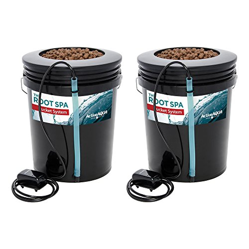 Active Aqua Root Spa 5 Ga. Hydroponic Bucket System Grow Kit, 2 Pack |...