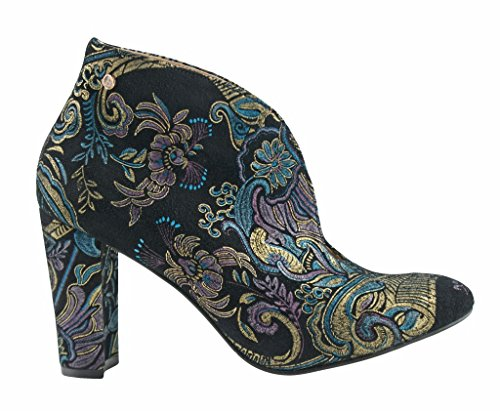 BOSCCOLO 4702-03 Stiefeletten, Boots, Ethnic, Booties, Bottes, Leder, Leather, Cuir Black