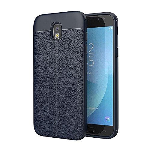 Ok Accessories Galaxy J7 Pro Funda, Cuero de Textura TPU Caso Carcasas de a Prueba de Golpes para Samsung Galaxy J7 Pro 2017...