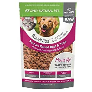 Only Natural Pet RawNibs Freeze Dried Beef 10 oz: Pet