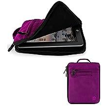 "Travel Carrying Case Tablet Pouch Sleeve Cover 7""-8"" for iPad Mini 4 / Asus ZenPad S8 / Hisense Sero 8 Pro / LeapFrog LeapPad3 / Samsung Galaxy Tab S2 8.0 / Archos Diamond Tab (Black/Purple)"
